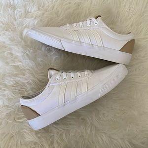 Adidas white 3 bandes 3 stripe original shoes